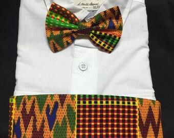 Bold African Kente Print Cummerbund for a wedding or formal event