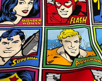 Fabric by the Yard - DC Justice League Squares