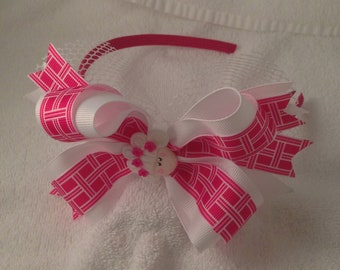 Cutie Pie  band Hair Bow