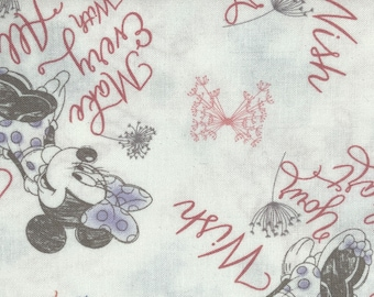 Fabric by the Yard - Disney Minnie Mouse Soft Sketch