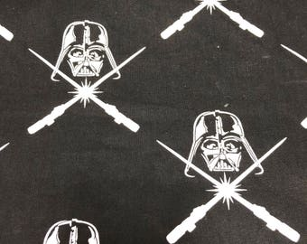 Fabric by the Yard - Star Wars Vader Argyle Black and White