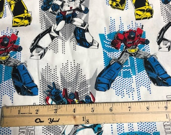 Fabric by the Yard - Transformers Autobots and Decepticons