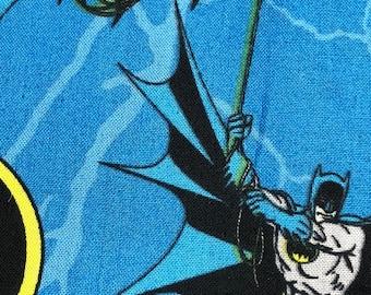 Fabric by the Yard - DC Batman on Blue
