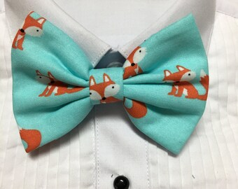 Cunning Little Fox Pattern Print Bowtie / Bow Tie