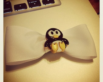 Cutie Penguin Hair Bow - 3 inches