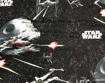 Fabric by the Yard - Star Wars Space Battle X-Wing Death Star Tie Fighter