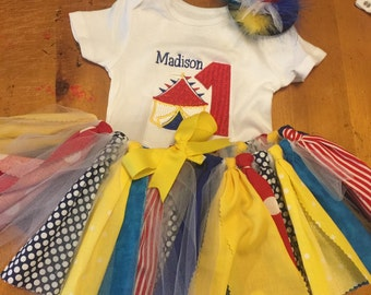Circus Carnival Tutu Outfit - Onesie and Hat included