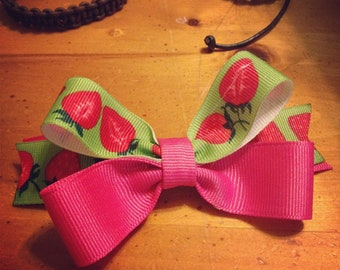Strawberry  Shortcake s Hair Bow