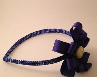 Purple and yellow Ribbon Hairband