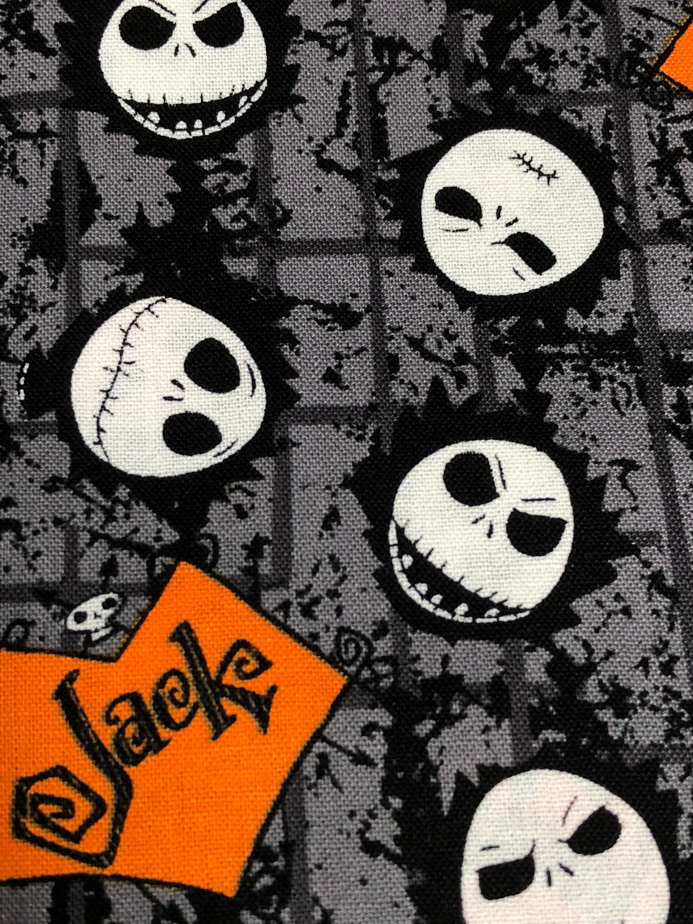 Fabric by the Yard Disney Nightmare Before Christmas Jack | Etsy