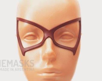 Midnight Leather Mask My Hero Academia Cosplay Hero Boku Dark Red Halloween Masquerade Carnival Superheroine Woman Comic Half Eyemask