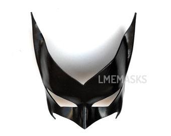 Batwoman Leather Mask Black Super Hero Kate Kane Cosplay Sexy Masquerade Heroic Hotness Carnival Halloween Mardi Gras Batman Costume Party