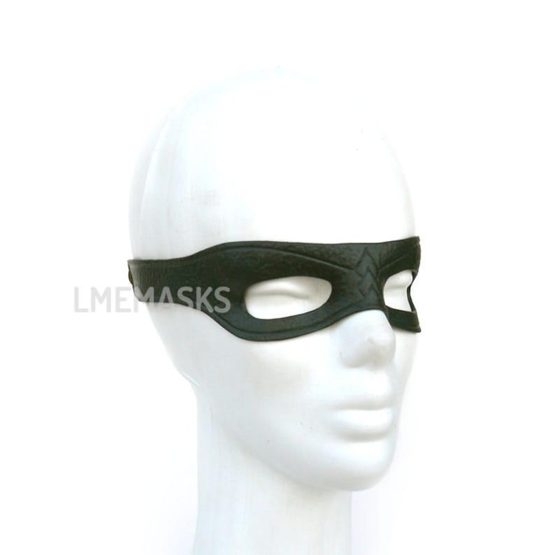 Arrow Leather Mask Green Cosplay Serie Tv Show Half Mask Super Hero Halloween Masquerade Carnival Party Superheroe Men Comic Oliver Queen