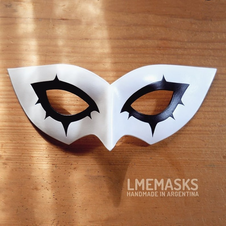 The Phantom Joker Leather Mask Persona 5 Protagonist MegaTenA Anime Game  Role-Playing White MegaTen Halloween Cosplay Masquerade Costume