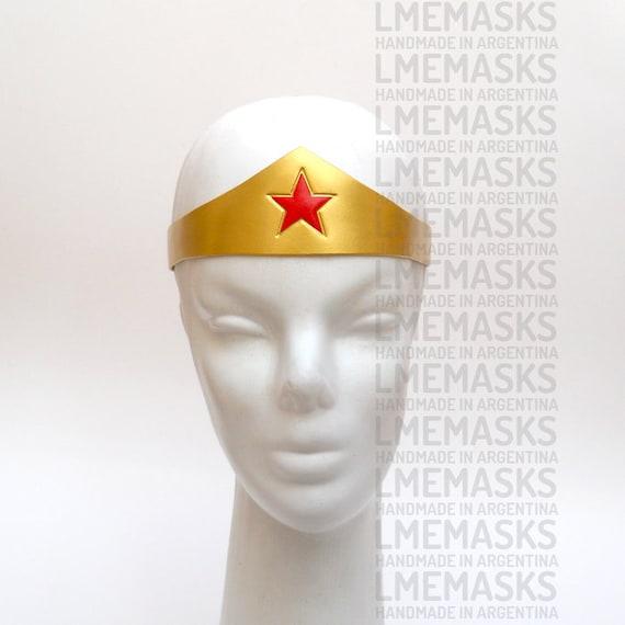 Womens Gold Wonder Woman Tiara Headpiece