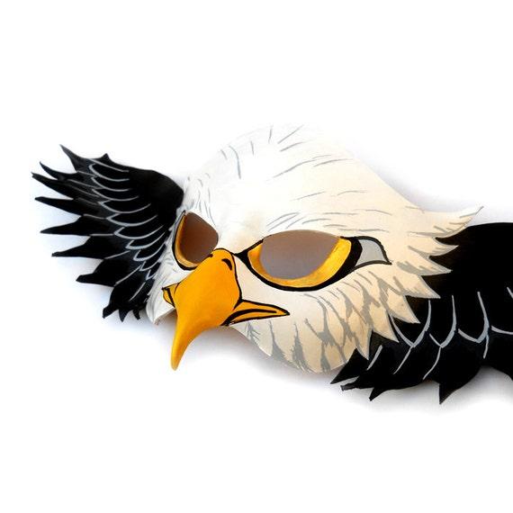 Águila calva americana cuero Máscara Halloween traje Animal   Etsy