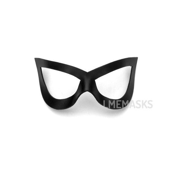 Leather mask robin teen titans black cat catwoman ms marvel for Marvel black cat mask template