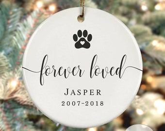 Personalized Dog Cat Christmas Ornament In Loving Memory Dog Photo Ornament with chandelier drop Pet Photo Ornament