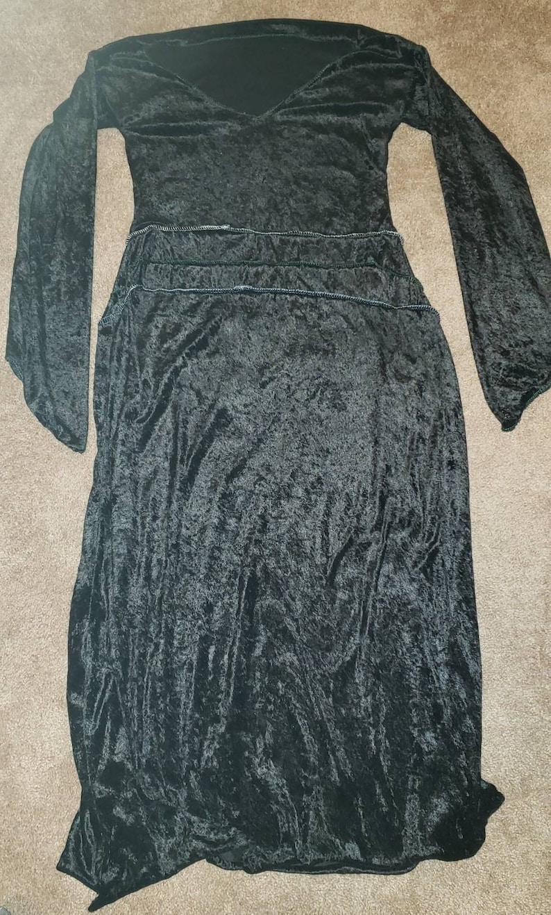 Long Black Velvet Dress