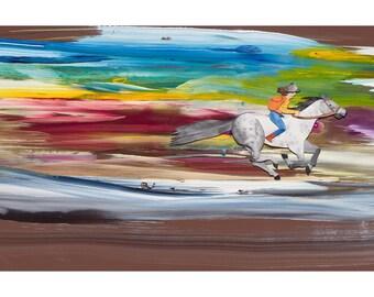 Slow Down World gallop print