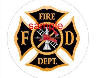 firefighter logo etsy rh etsy com firefighter logo seat covers firefighter logistics