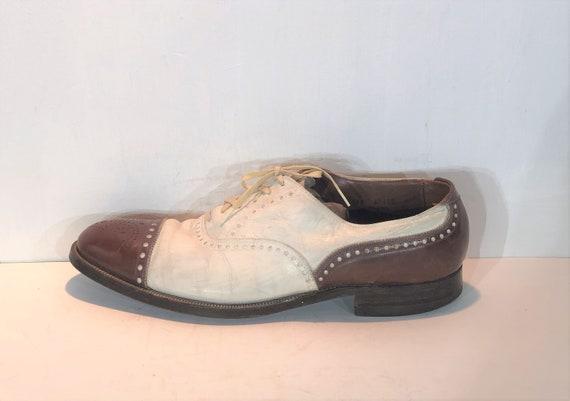 1930s men's leather spectators - size 11 - 1930s … - image 2