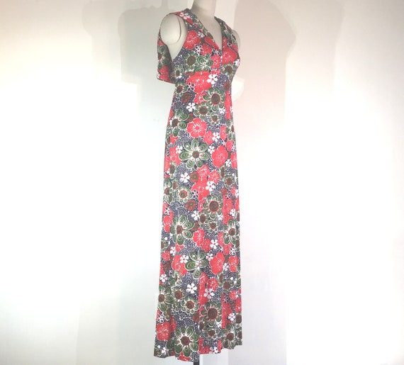 1970s does 1930s playsuit summer sailor maxi dres… - image 4