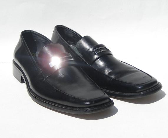 1990s Pierre Cardin men's black leather loafer - s