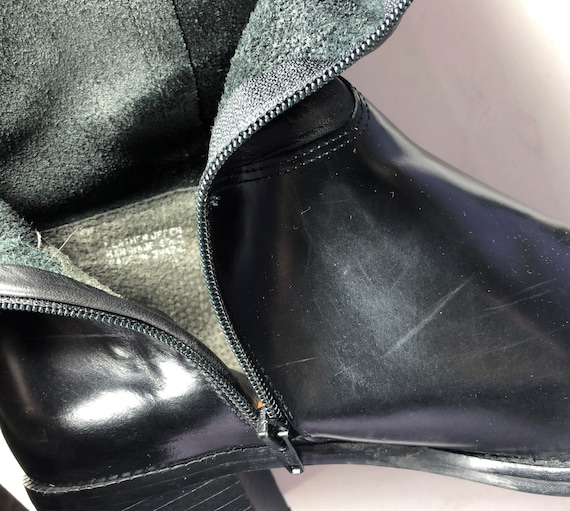 1970s black leather boots - size 9 - 1970s leathe… - image 6
