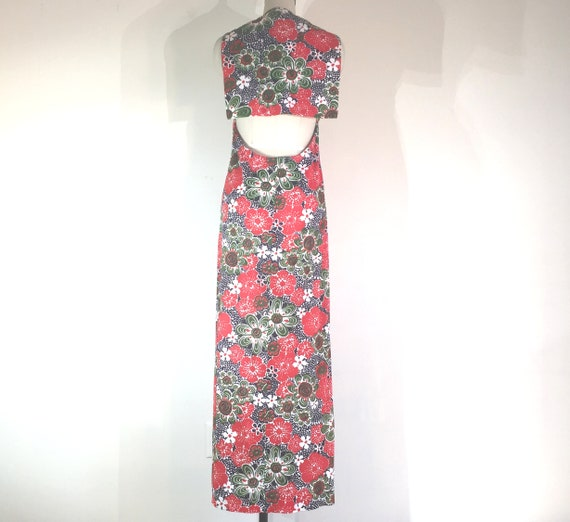 1970s does 1930s playsuit summer sailor maxi dres… - image 5
