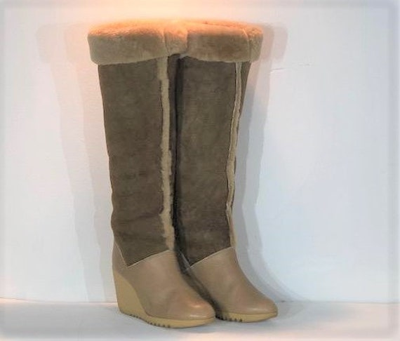 1970s Cherokee shearling winter boots - size 8 - 1