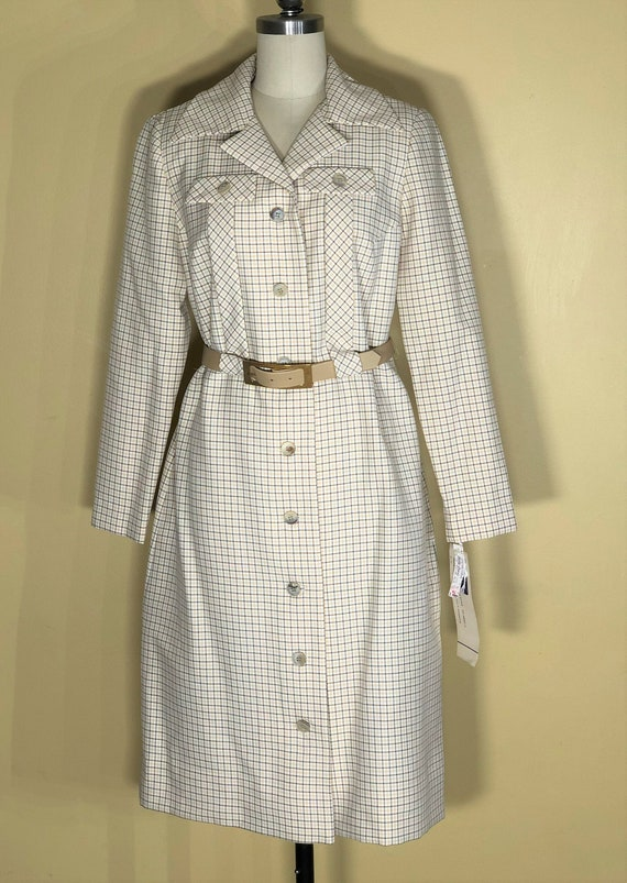 1960s mod trench coat - medium - 1960s coat in min
