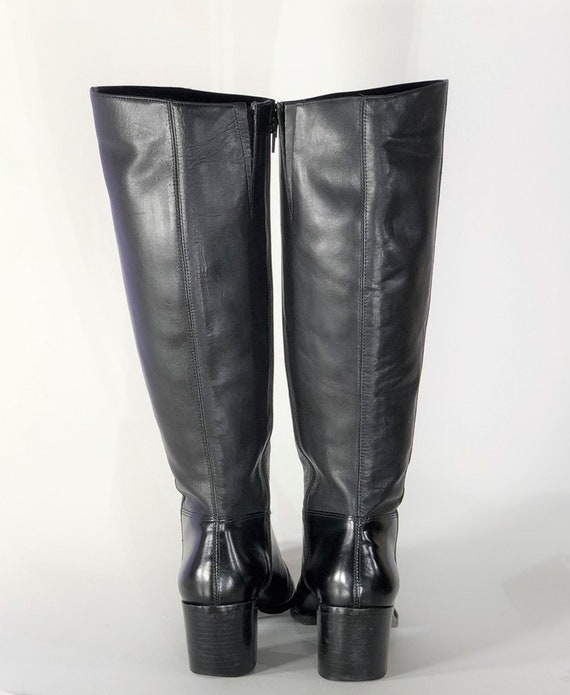 1970s black leather boots - size 9 - 1970s leathe… - image 5