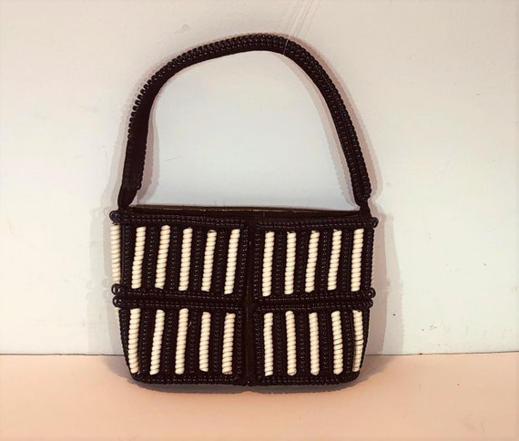 1940s telephone cord purse - 1940s novelty purse -