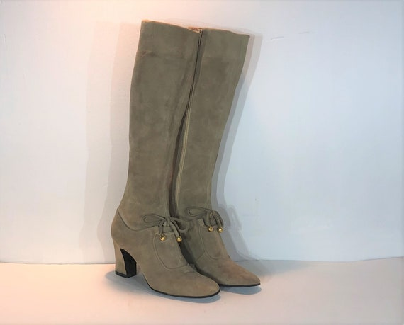 1960s Bally tan suede mod boots  - size 5 - 1960s