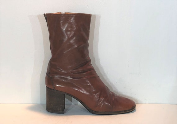 1960s French chelsea boots - size 7.5 - 1960s brow