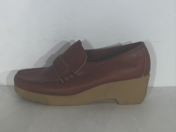 1970s Dexter platform loafers - size 8 - 1970s pla