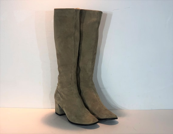 1960s Bally tan suede mod boots  - size 7 narrow -