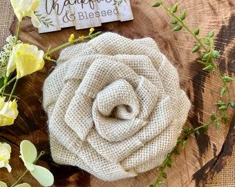 Linen Flower Hair Bow Headband Supply Set of 2 Ivory Tan White  Pink Burlap Flower Burlap Small Flower Wholesale DIY Crafts