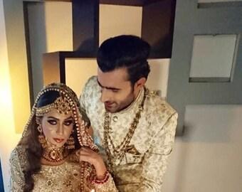 291f831813 Pakistani Bridal outfit, engagement/nikah pakistani/indian/bengali wedding  dress
