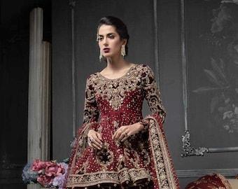 Maria B inspired Red Wedding Dress