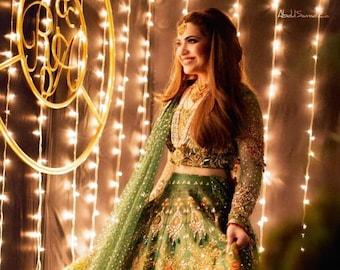 Nomi Ansari inspired Mehendi Dress