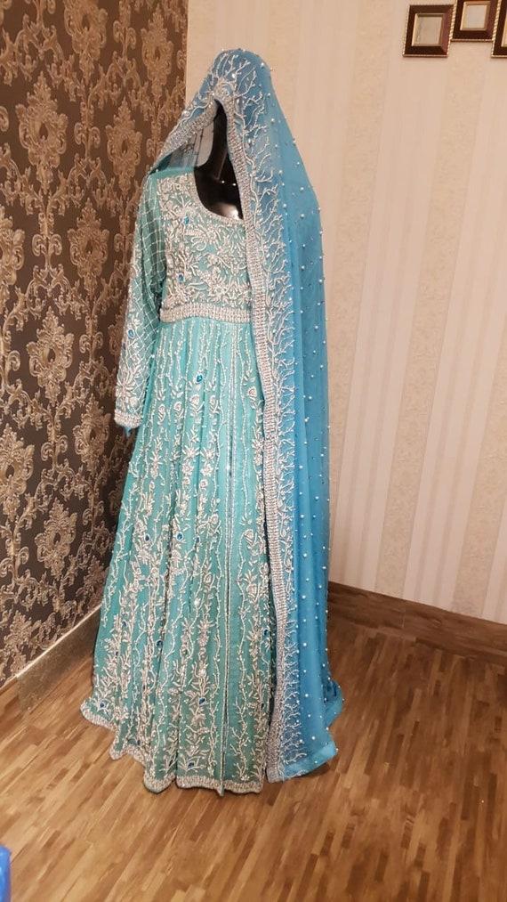 Pakistani Bridal Maxi Dress Long Blue Gown Bridal Dress Etsy,Wedding Dress Shops In Miami