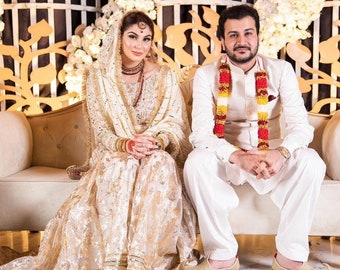 White gharara for nikah