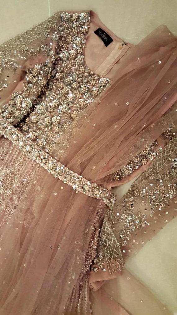 Pakistani Wedding Gown Long Maxi Dress Blush Pink Anarkali Etsy,Indo Western Dress For Wedding Men