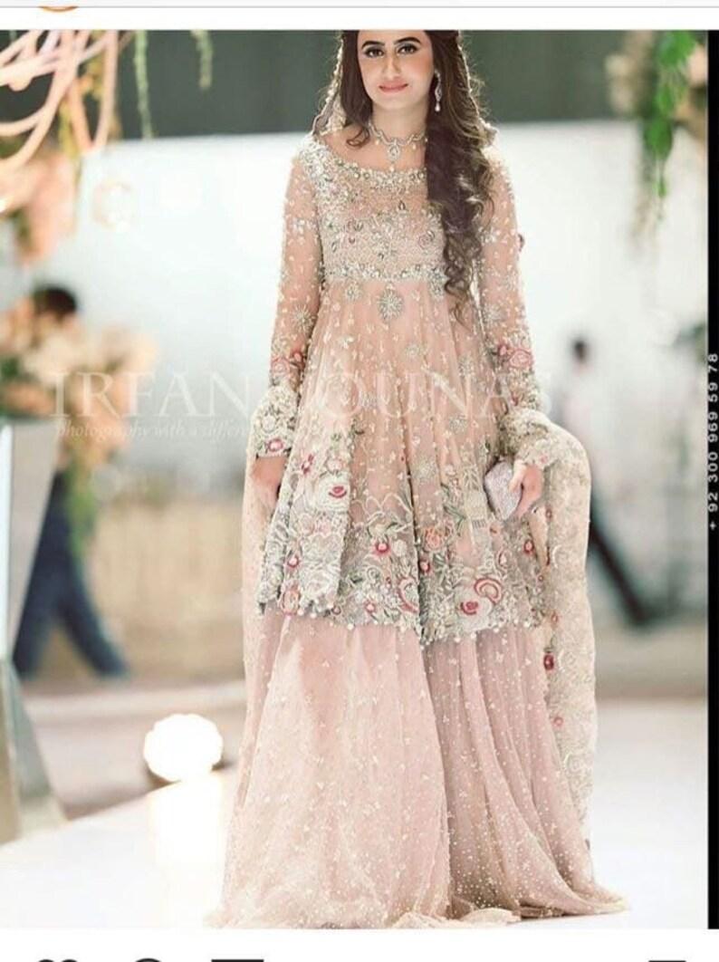 da5435dfc7 Pakistani Bridal outfit lehenga pakistani/indian/bengali | Etsy