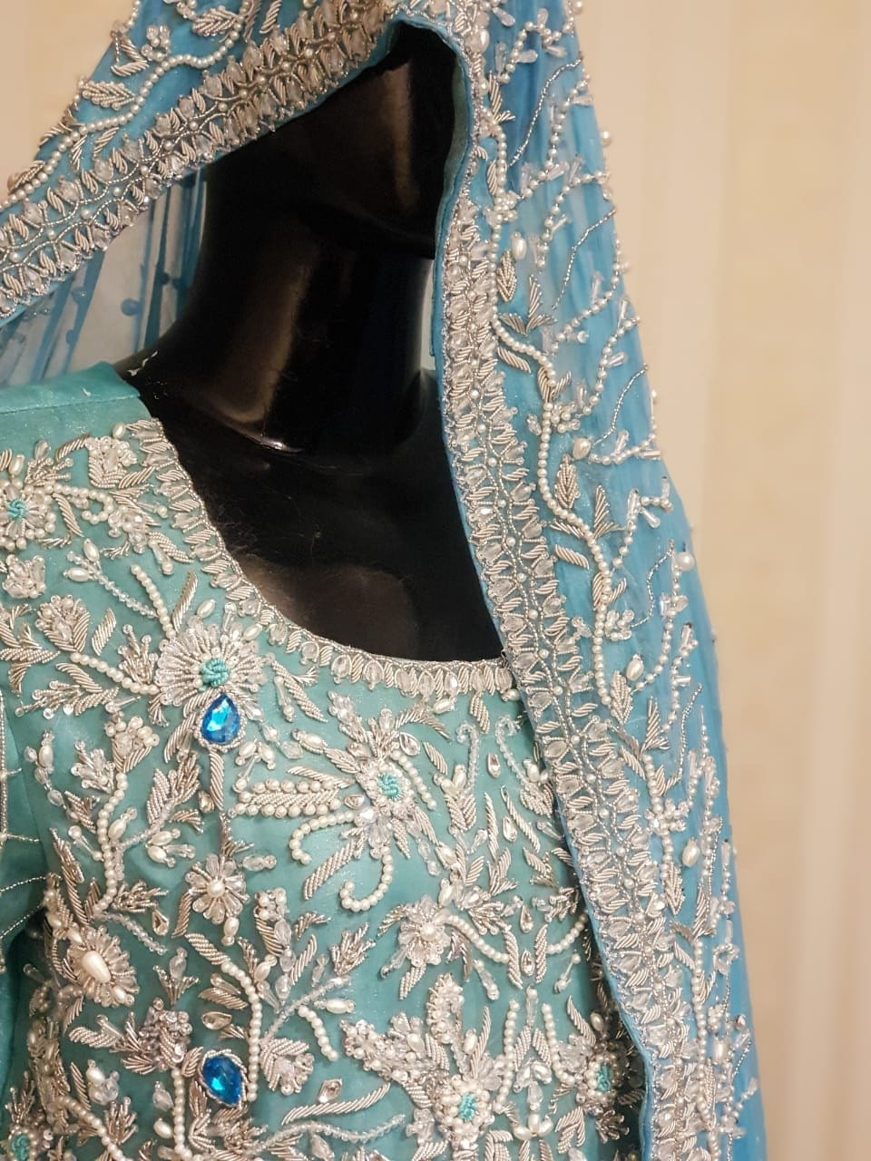 Pakistani Bridal Maxi Dress Long Blue Gown Bridal Dress Wedding Outfits