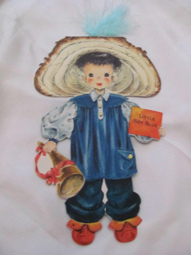 Collectible Hallmark Vintage Birthday Card Little Boy Blue Doll #8 Unused Greeting Card