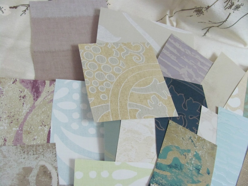 30 Wallpaper Scraps Pieces Assorted Patterns  For Confetti Tags Garland Bunting Decor Scrapbooking Jewelry Origami Journals