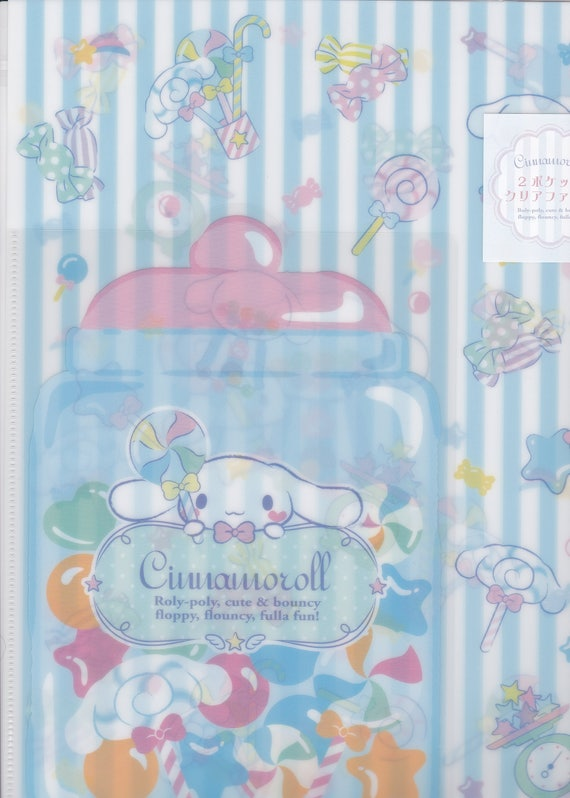 Sanrio Original Cinnamoroll A4 File Folder Organizer w/ a A5 Pocket